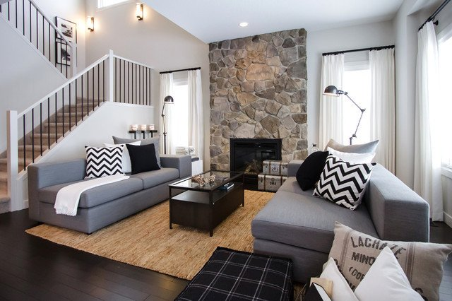 NFID Cottage Casual contemporary living room calgary