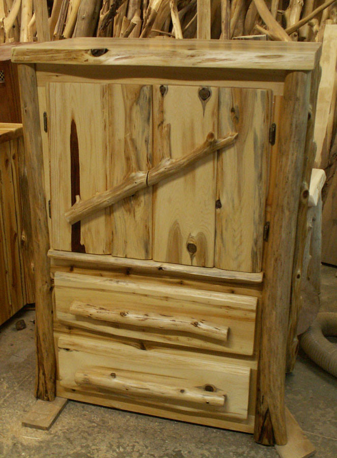 Cedar Log Bedroom Furniture Handcrafted Armoire