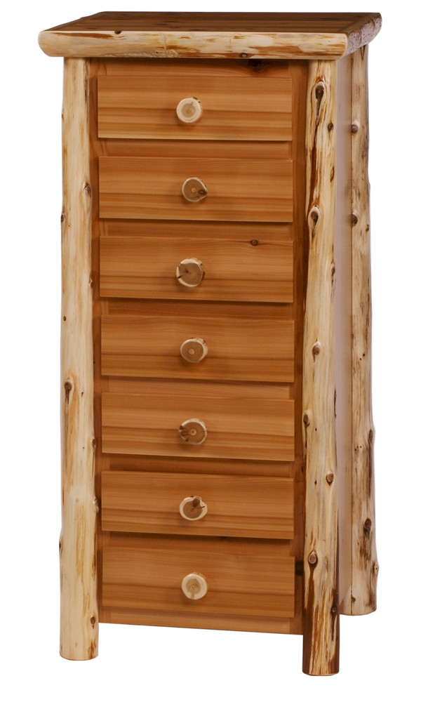 Cedar Log Bedroom Furniture Log Lingerie Chest 7dlc Minnesota Cedar Log Bedroom
