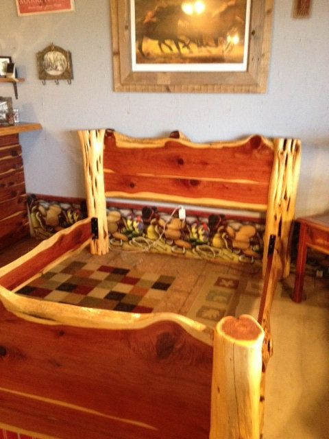 Cedar Log Bedroom Furniture Queen Size Cedar Log Bed by Garrettsrusticstuff On Etsy