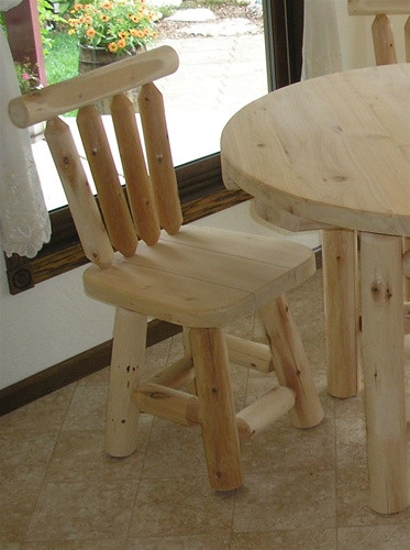 Cedar Log Bedroom Furniture Rustic Cedar Log Dining Chairs