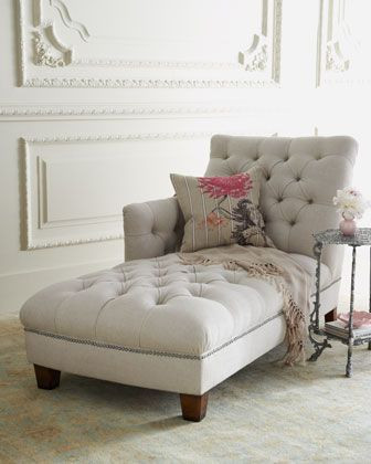 Chaise Chair for Bedroom Maddox Tufted Chaise
