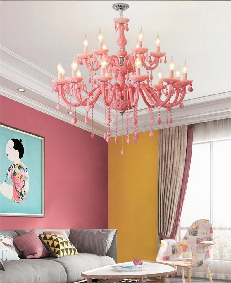 Chandelier for Girls Bedroom Girls Room Chandelier Living Room Bedroom Kids Room Chandeliers Lampadario Lustre Fixture Pink Chandelier Lighting Fixtures