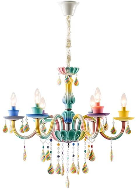 Chandelier for Girls Bedroom topdeng Princess Chandelier for Girls Room E12 6 Lights