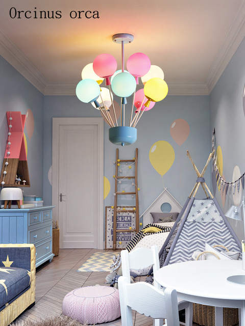 Chandelier for Girls Bedroom Us $156 64 Off Cartoon Creative Balloon Chandelier Boys Girls Bedroom Children S Room Lamp Modern Romantic Colorful Balloons Chandeliers Pendant