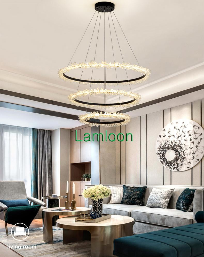 Chandelier Light for Bedroom Contemporary Crystal Chandelier Lighting Fixture Round K9 Crystal Chandeliers Lights Living Room Bedroom Dinning Room Led Hanging Lamps Rope