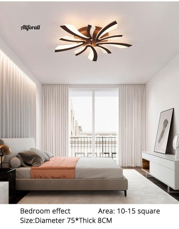 Chandelier Light for Bedroom Modern Led Ceiling Chandelier Light for Living Room Bedroom Dining & Study Room White Black Body Ac90 260v Chandeliers Fixtures