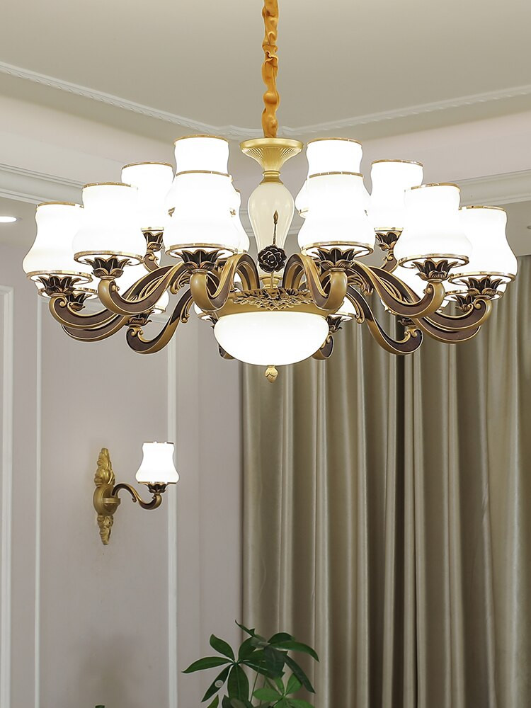 Chandelier Light for Bedroom Us $84 0 Off Zinc Alloy Living Room Luxury Chandelier Lights European Hotel Lobby Villa Jade New Hanging Lamp Bedroom Designer Led Luminaires On