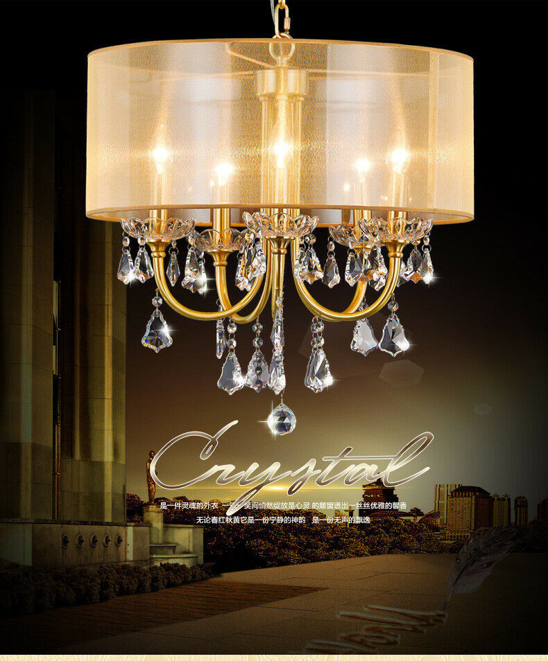 Chandelier Lighting for Bedroom Details About European Style Copper Lights Dining Room Bedroom Study Crystal Chandelier Lights