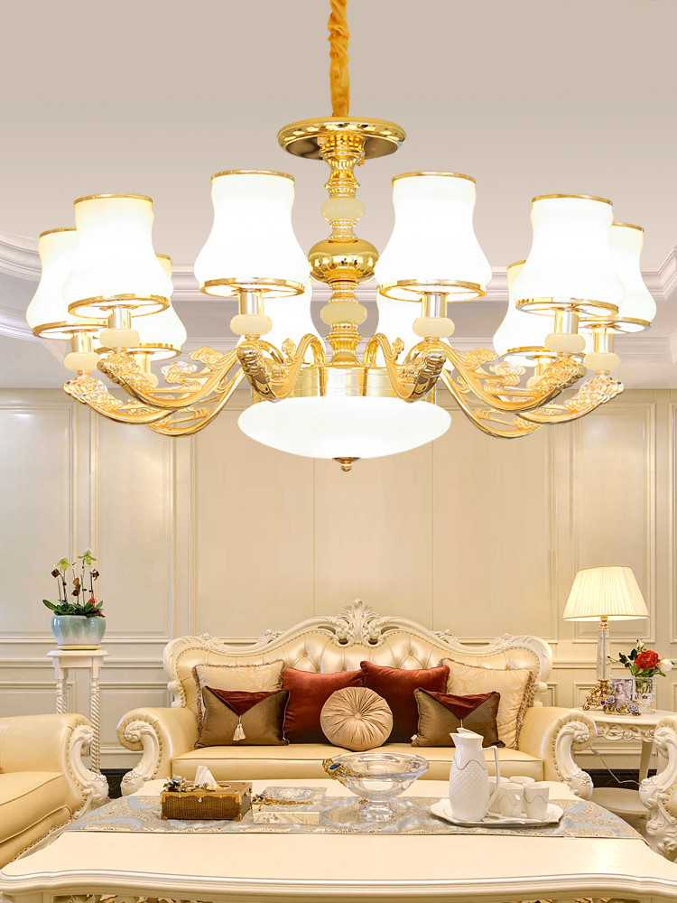 Chandelier Lighting for Bedroom Us $206 5 Off Zinc Alloy European Luxury Led Chandelier Lighting Jade Dining Living Room Bedroom Big Hanging Villa Lamp Lobby Hotel