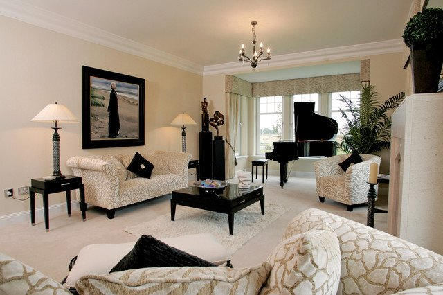 Classic Contemporary Living Room Classic Contemporary Family Home In Scotland