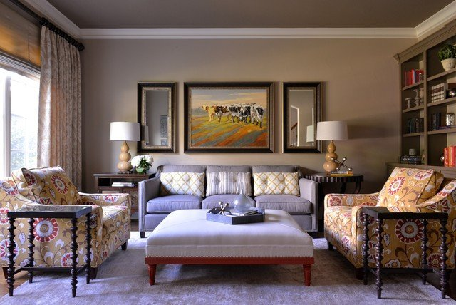 Classy Comfortable Living Room fortable yet Elegant Family Room Library Transitional