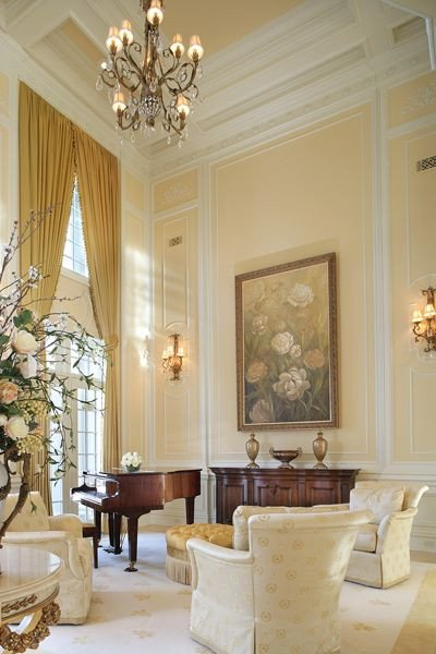 Classy Comfortable Living Room This Light & Bright Space by Diane Durocher is formal