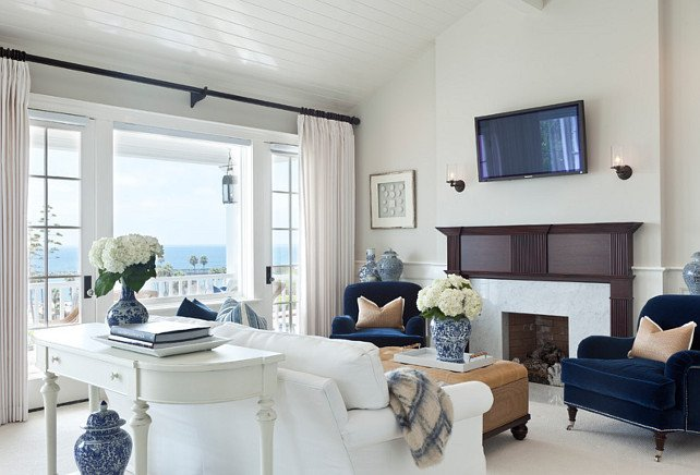 Coastal Comfortable Living Room Beach House with Classic Coastal Interiors Home Bunch