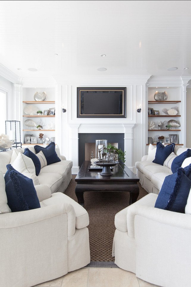 Coastal Comfortable Living Room Classic Beach House with Coastal Interiors Home Bunch