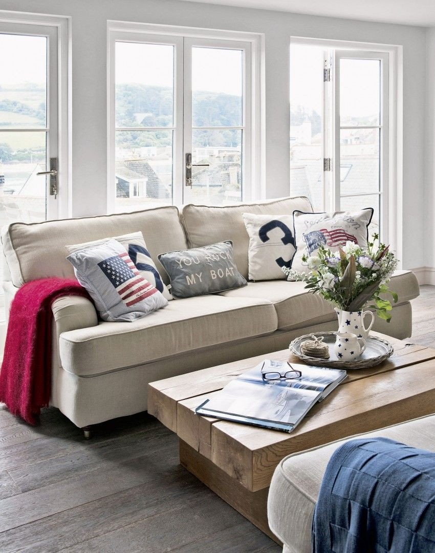Coastal Comfortable Living Room Create Smart New England Coastal Style In Your Living Room