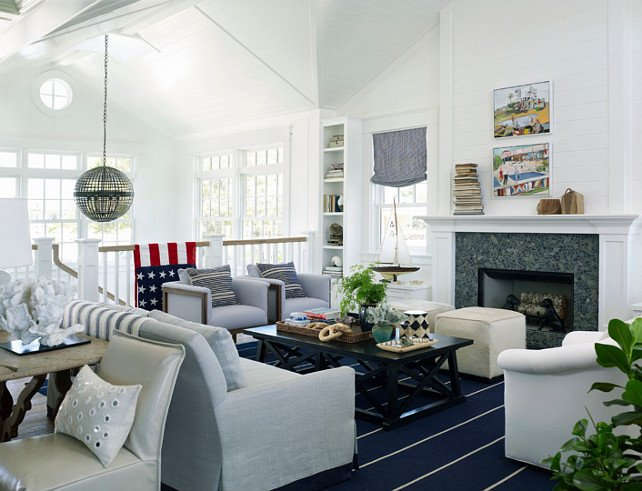Coastal Comfortable Living Room Latest Coastal Living Showhouse Home Bunch Interior