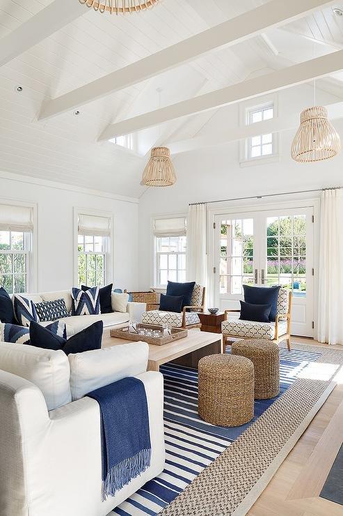 Coastal Contemporary Living Room Coastal Contemporary Living Room Design Tuft & Trim