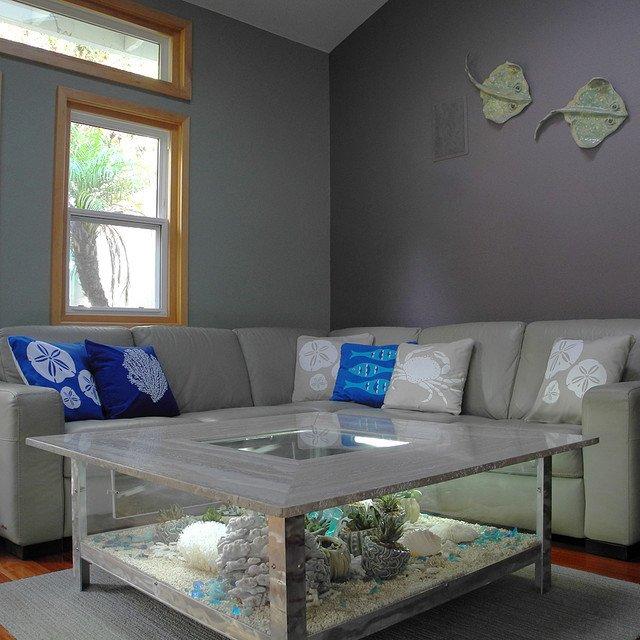 Coastal Contemporary Living Room Coastal themed Living Room Modern Living Room San