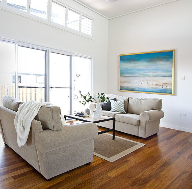 contemporary coastal home beach style living room townsville