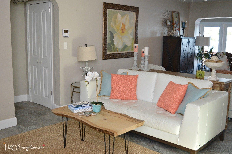 Coastal Contemporary Living Room Contemporary Coastal Living Room Makeover H20bungalow