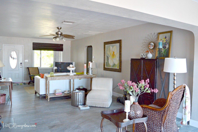 Coastal Contemporary Living Room Contemporary Coastal Living Room Makeover H2obungalow