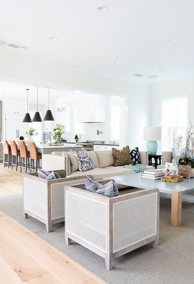Coastal Contemporary Living Room Dig Your toes In the Sand with Our Coastal Furniture