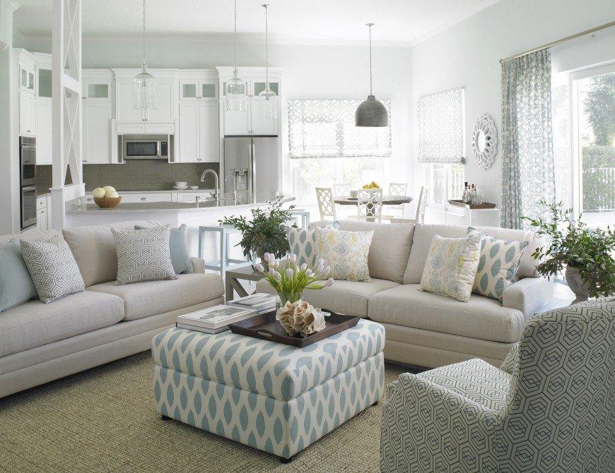 Coastal Contemporary Living Room Krista Watterworth Interior Design Creates Clean