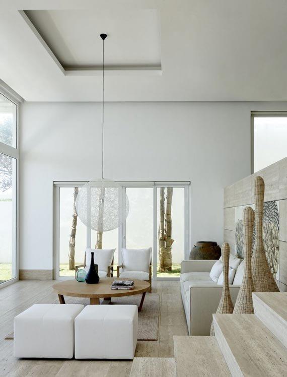 Coastal Contemporary Living Room Natural Modern Interiors March 2012