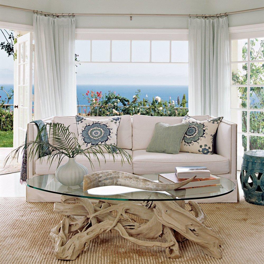 Coastal Contemporary Living Room Our Favorite Modern Interiors Coastal Living
