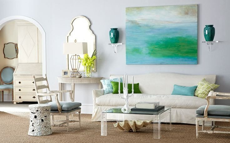 Coastal Contemporary Living Room Pinning for the Weekend