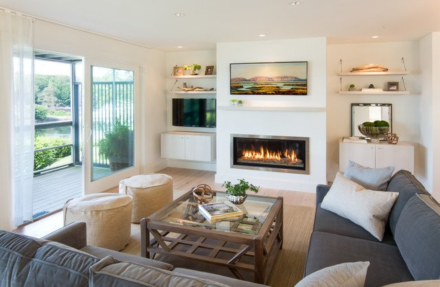 Coastal Contemporary Living Room Stageneck Modern Beach Style Living Room Portland