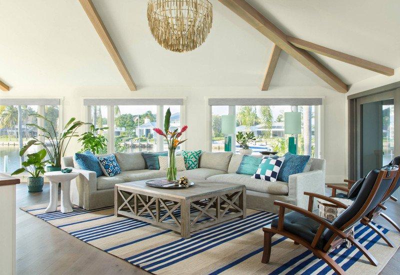 Coastal Contemporary Living Room Studio80 Interior Design