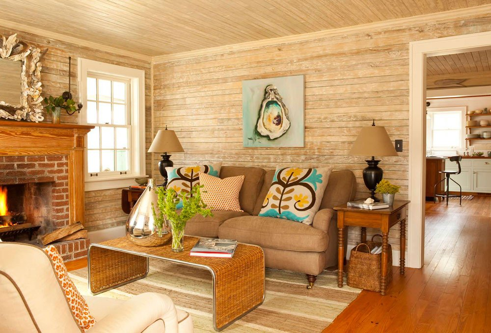 Comfortable Bungalow Living Room Cottage Living Room Will Create Peaceful and Calm Feel