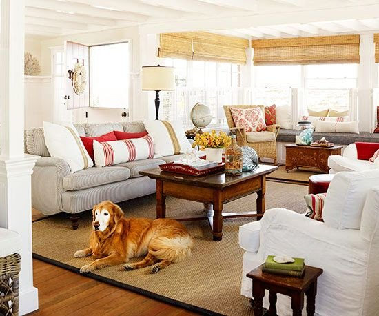 Comfortable Bungalow Living Room Cottage Style Rooms Pinterest
