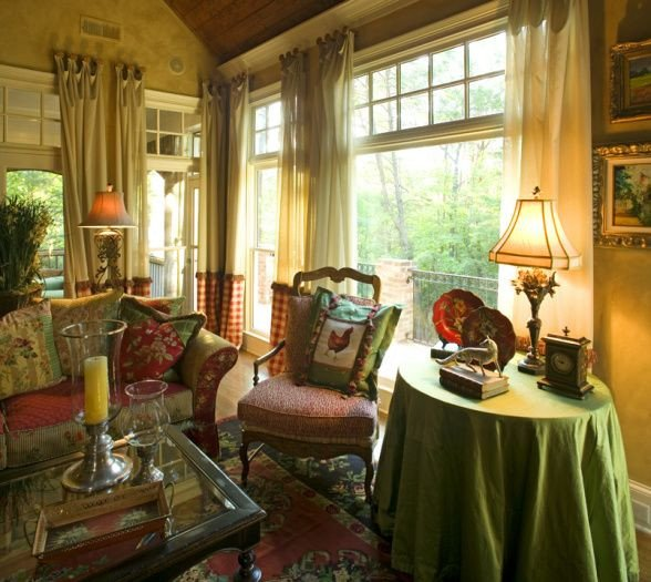 Comfortable Bungalow Living Room Cozy Country French and fortable Country French