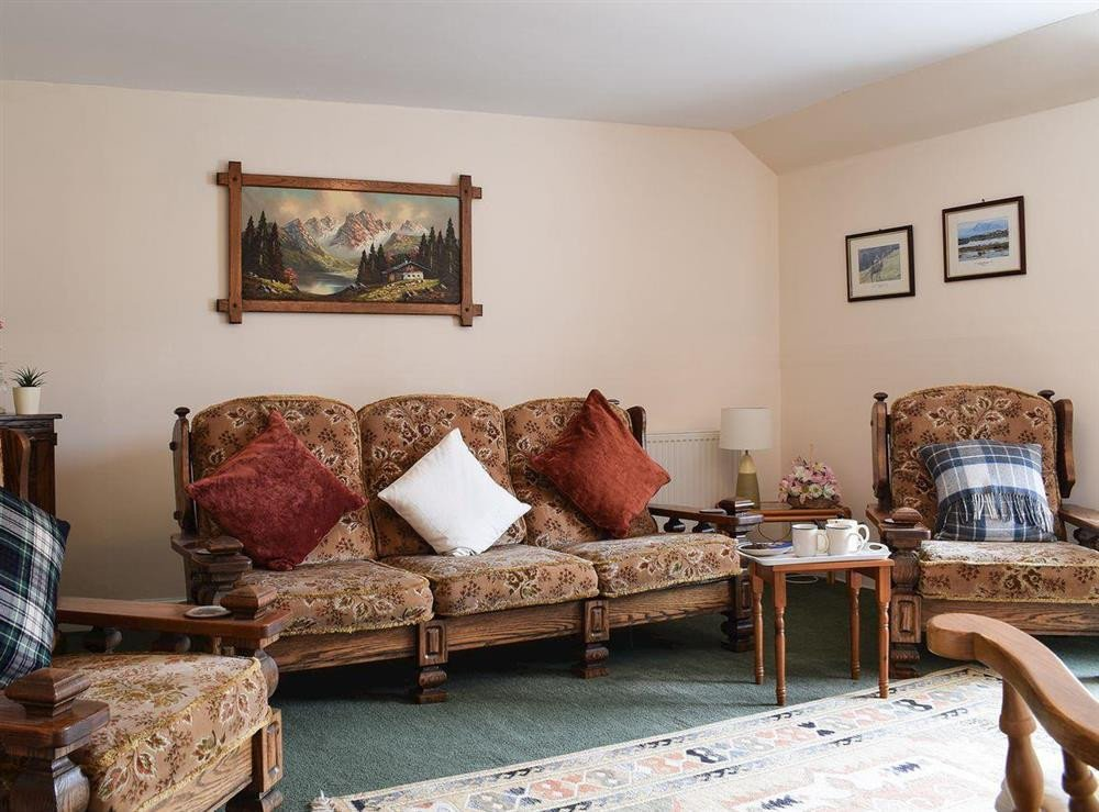 Comfortable Bungalow Living Room S Of Caroch Cottage Rie Near Crieff Perthshire