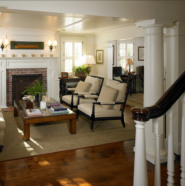 Comfortable Classic Living Room Martha's Vineyard Traditional Coastal Home Home Bunch