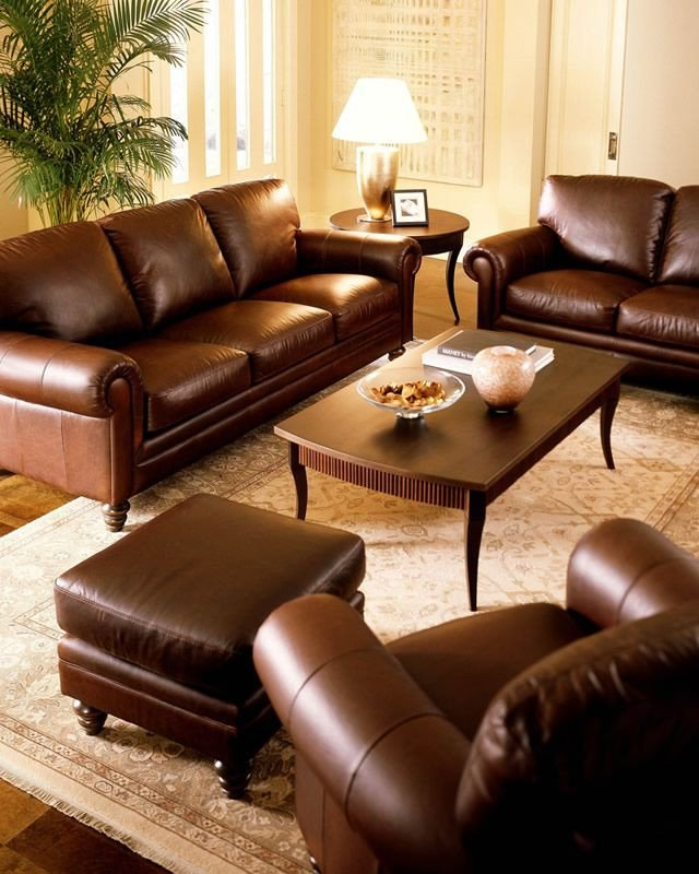 Comfortable Classic Living Room Most fortable Leather sofa with Classic Design Love It