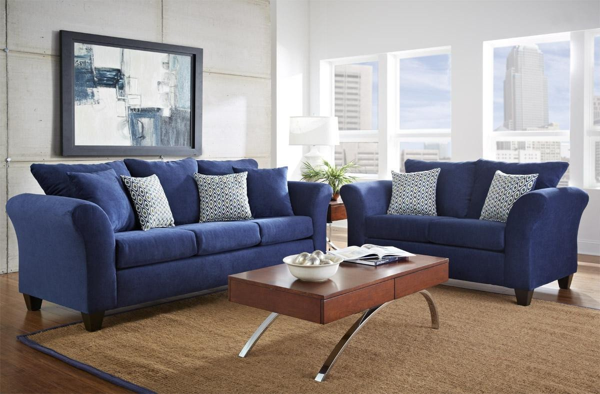 Comfortable Couches Living Room fortable Blue sofa for Blue Living Room Furniture