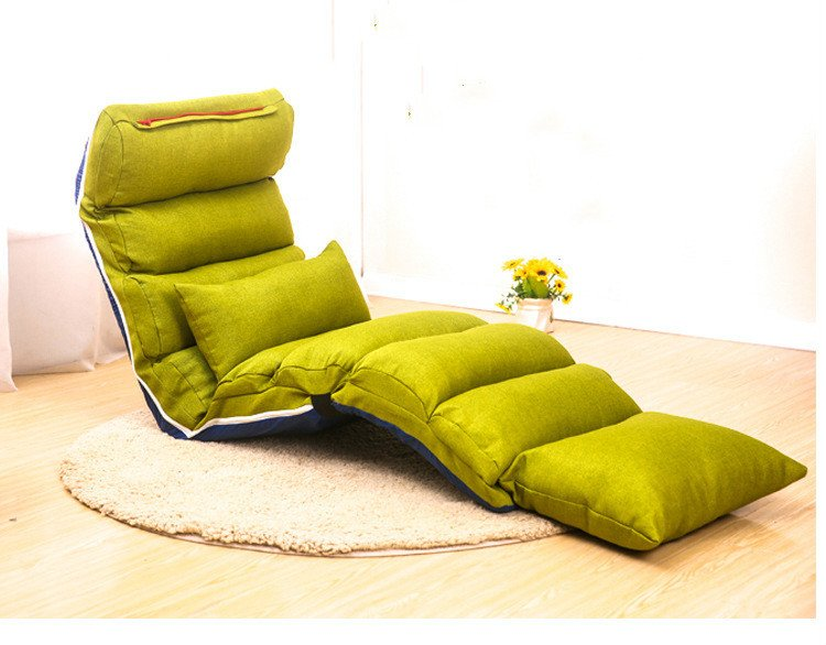 Comfortable Daybeds Living Room Floor Folding Chaise Lounge Chair Modern Fashion 12 Color
