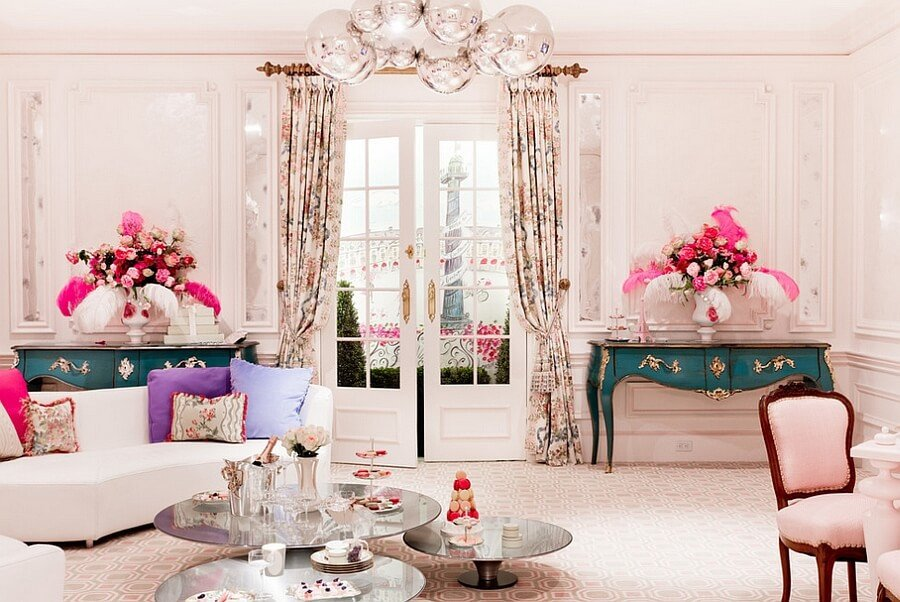 Comfortable Feminine Living Room Feminine Feel In 11 Bold Living Room Designs S