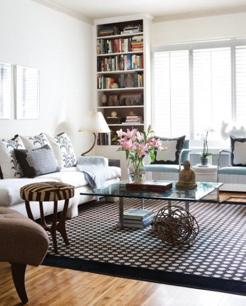 Comfortable Feminine Living Room Modern Furniture 2013 Stylish and Feminine Living Rooms