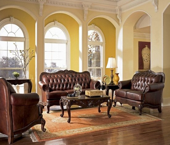 Comfortable formal Living Room Traditional Furniture Style Traditional formal Dining