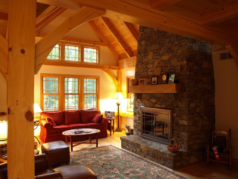 Comfortable Living Family Room Great Rooms & Living Rooms – Timber Creek Post & Beam Pany