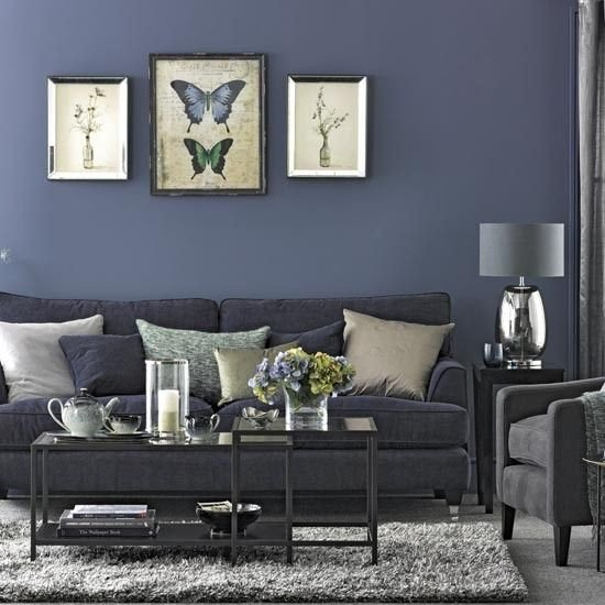Comfortable Living Room Amazing Navy Living Room Traditional Design Ideas with fortable
