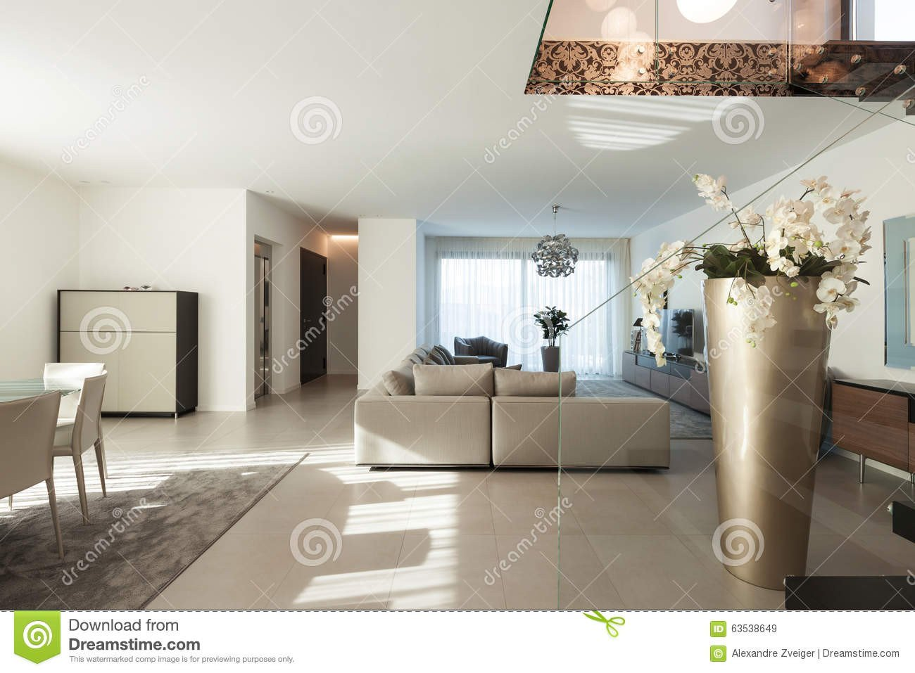 Comfortable Living Room Apartment Beautiful Apartment Interior Stock Image