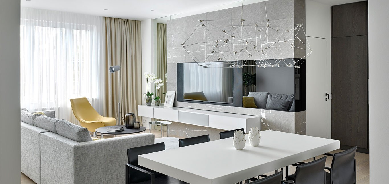Comfortable Living Room Apartment fortable Moscow Apartment with Colorful Furniture and