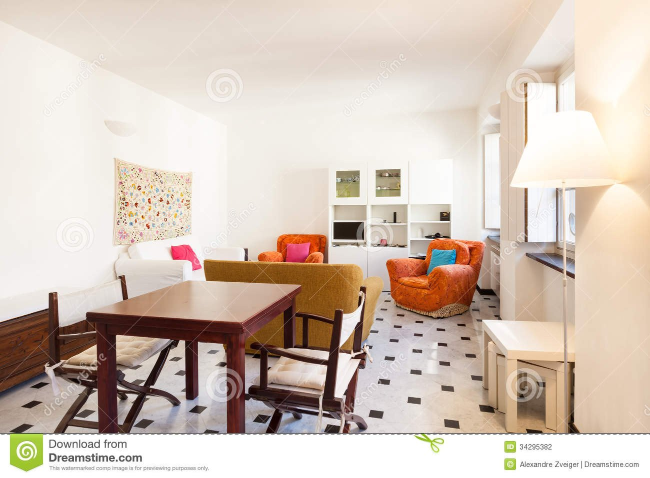 Comfortable Living Room Apartment Interior Beautiful Apartment Stock Graphy Image
