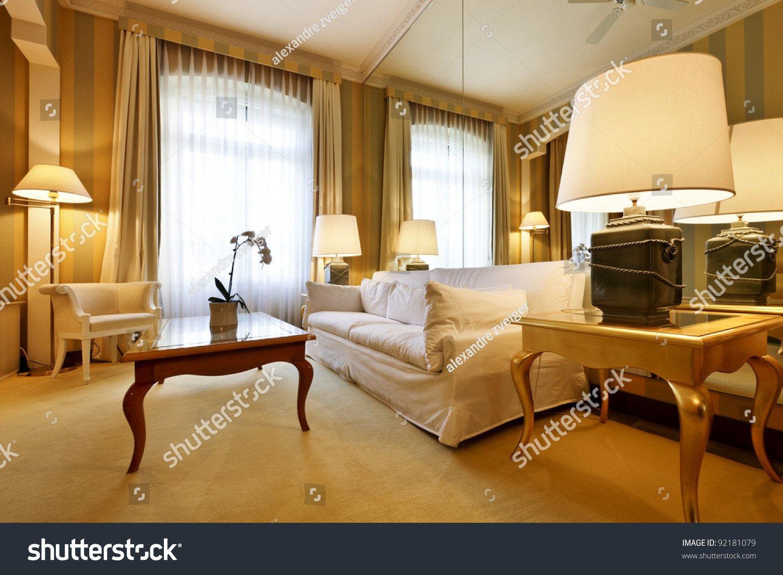 Comfortable Living Room Apartment Interior Luxury Apartment fortable Classic Living Stock